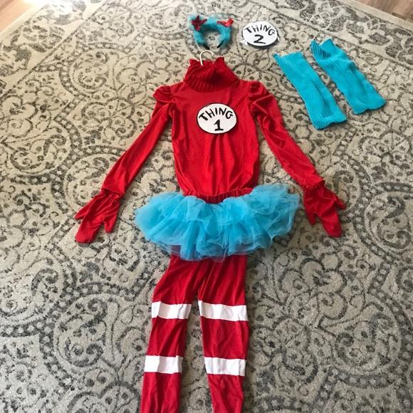Costumes Thing 1 Thing 2 Girls Halloween Costume Poshmark